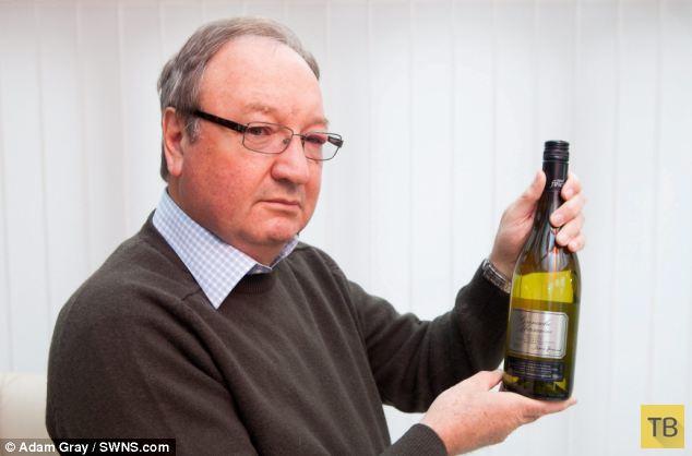 Бутылка белого вина для тещи (4 фото)