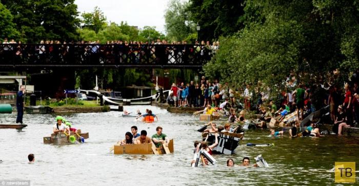 Гонки на картонных лодках студентов из Кембриджского университета (19 фото)