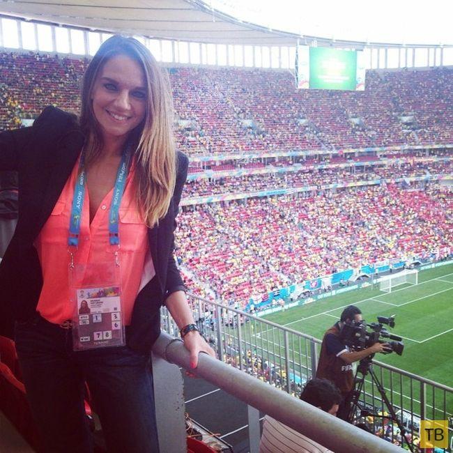 Топ-5: Самые привлекательные журналистки Чемпионата мира по футболу 2014 (20 фото)
