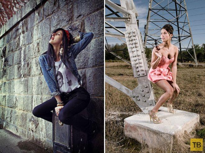 Творческий подход фотомоделей к позированию (16 фото)