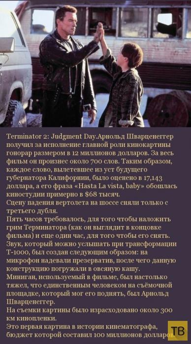 Подборка интересных и малоизвестных фактов о кинофильмах (54 фото)