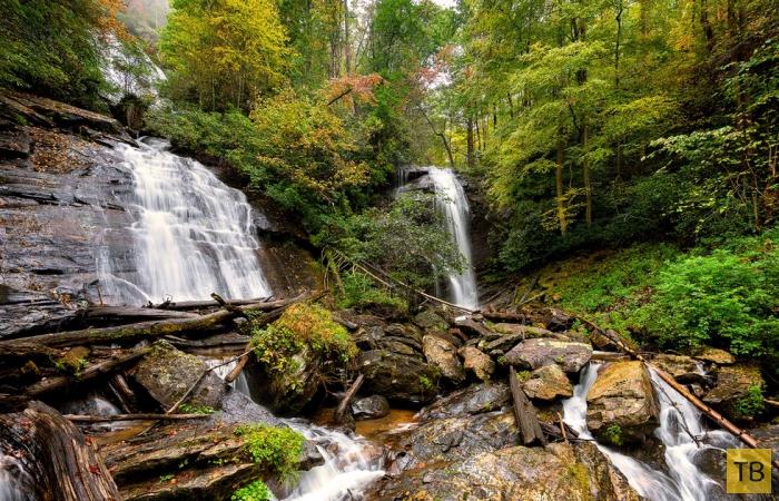 Одна из десяти самых посещаемых достопримечательностей США - природный комплекс Руби-Фоллс (11 фото)