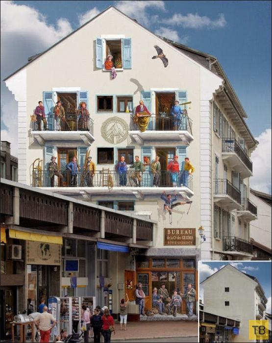 Нарисованные фасады (15 фото)