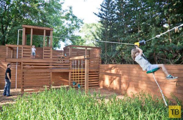 Как обустроить детскую площадку во внутреннем дворе (13 фото)