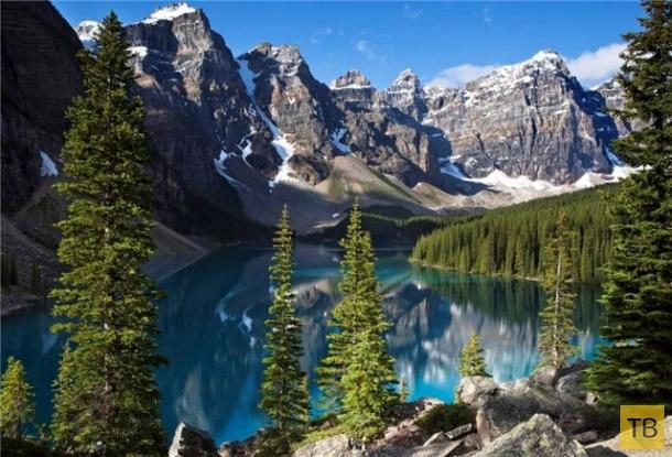 Oзеро Морейн в Канаде - настоящее чудо света (8 фото)