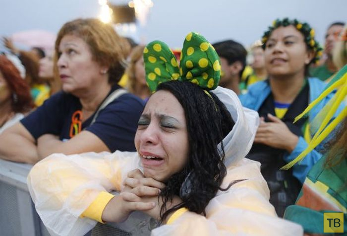 Разочарованные бразильские фанаты (40 фото)