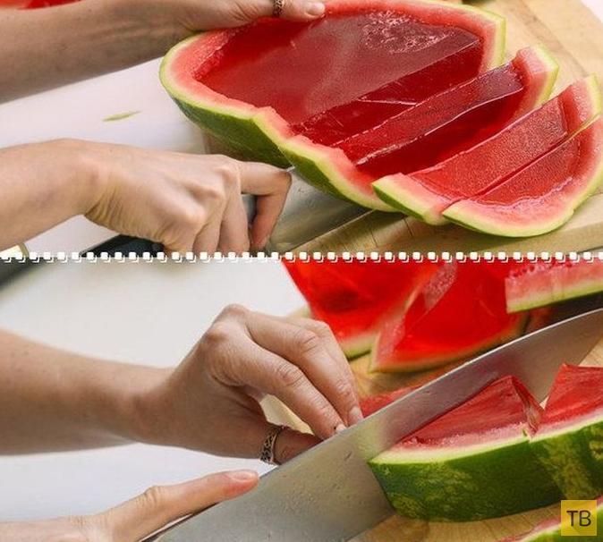 Вкусное и необычное лакомство из обычного арбуза (7 фото)