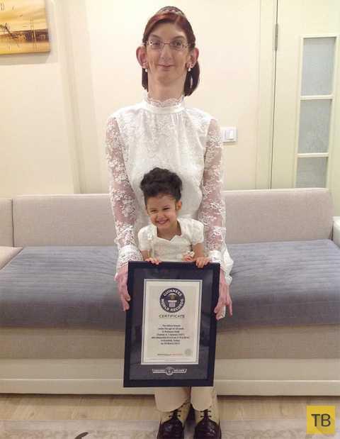 11-классница из Турции стала самой высокой девушкой на планете (4 фото)