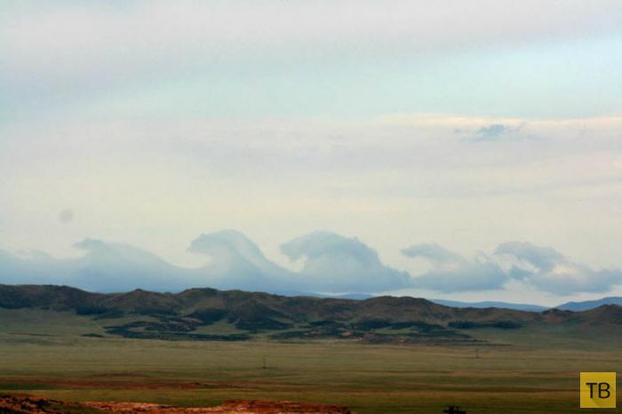 Необычные облака – неустойчивость Кельвина-Гельмгольца (11 фото + видео))