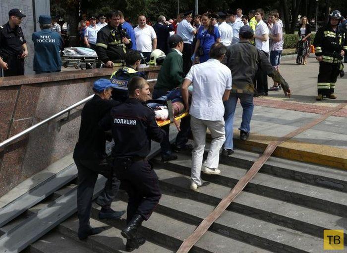 Страшная авария в московском метро на Арбатско-Покровской линии (24 фото + видео)