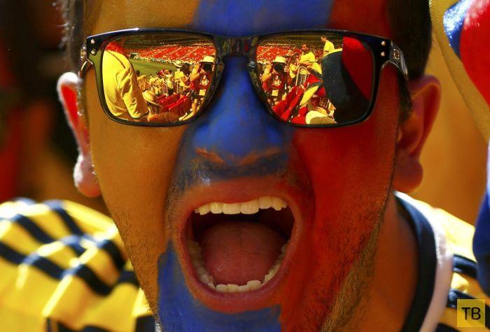 Подборка фотографий с Чемпионата мира по футболу в Бразилии, сделанных в нужный момент (54 фото)
