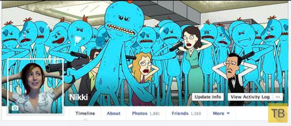 Facebook-обложки от веселой девушки Никки (10 фото)