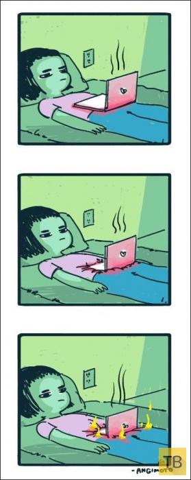Веселые комиксы и карикатуры, часть 162 (25 фото)