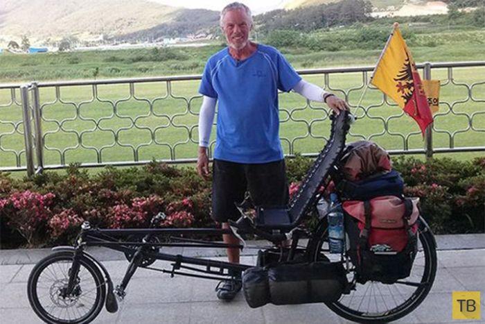 Известный американский велосипедист Рон Макгерити погиб в России (5 фото)
