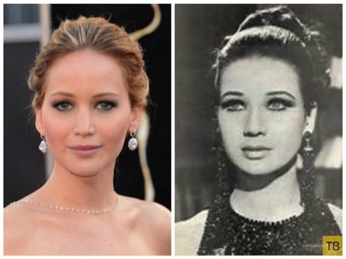 Двойники знаменитостей из прошлого (17 фото)