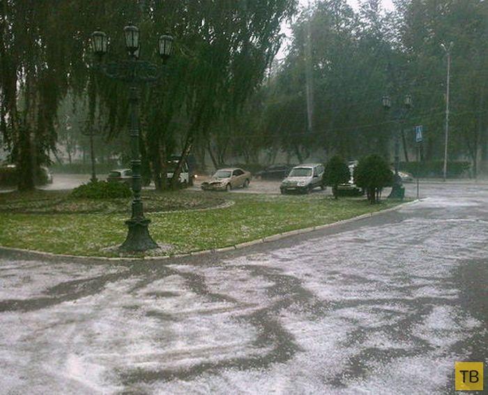 Аномальный град в Горно-Алтайске (52 фото)