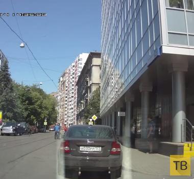 Велосипедиста сбили дверью... ДТП на ул. Гиляровского, г. Москва