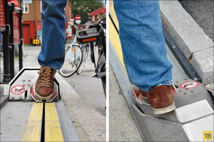 Подъемник для велосипедистов в Норвегии (7 фото)