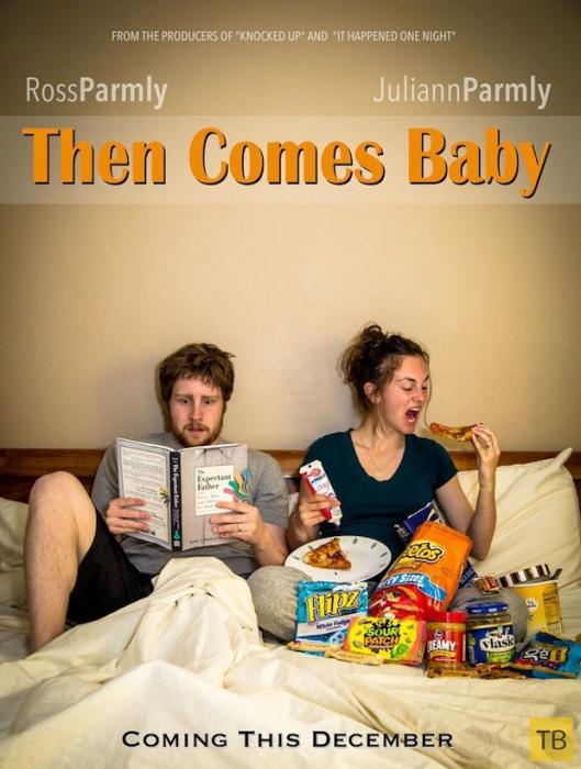 Необычные и смешные способы рассказать о беременности (18 фото)