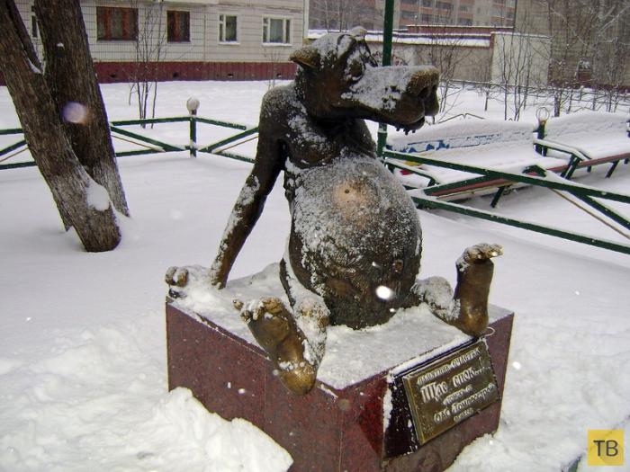 Памятник счастья  «Щас спою…» в г. Томск (8 фото)