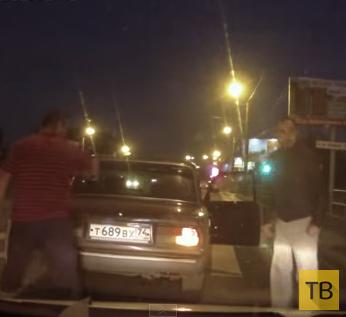 Победил русский мат... Разборки на дороге в г. Челябинск