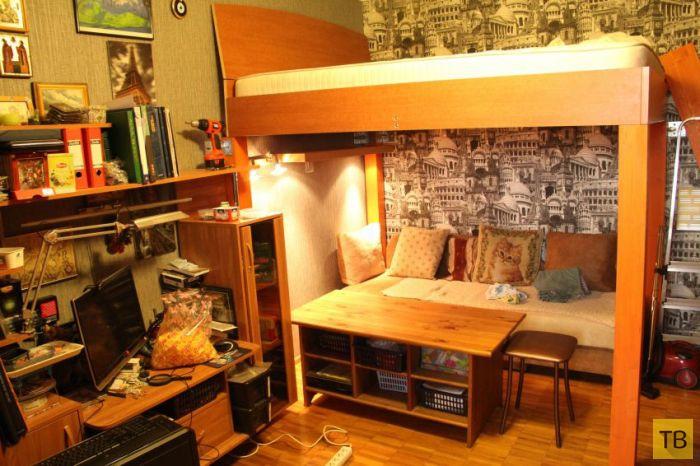 Кровать под потолком своими руками (16 фото)