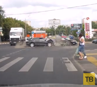 Оба хороши... Столкновение на пересечении улицы Б. Черемушкинская и 5-го Загородного проезда, г. Москва