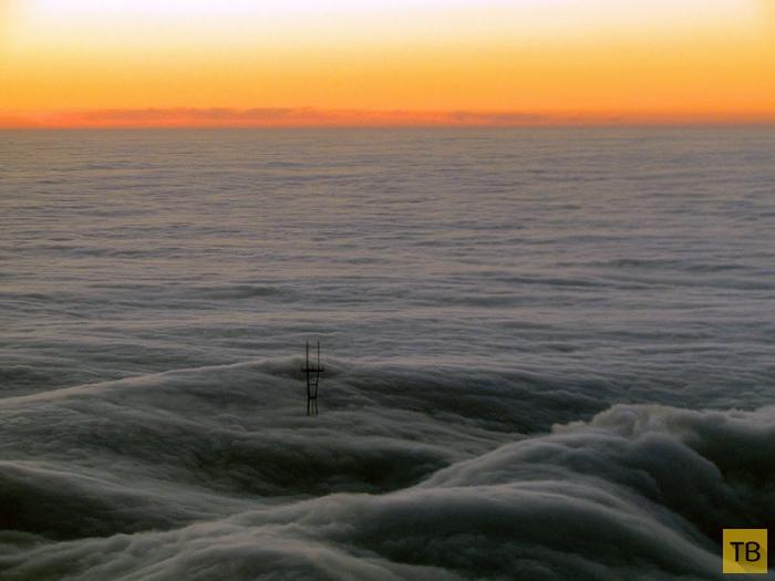 Города мира в тумане (10 фото)
