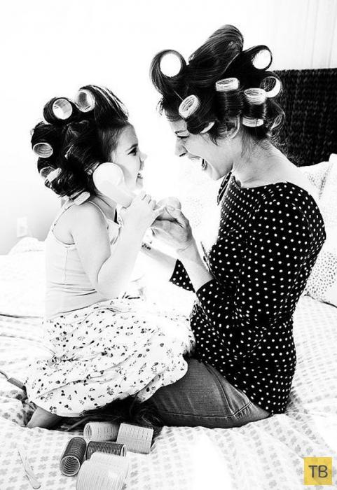 Очаровательные мамы и их дочки (22 фото)