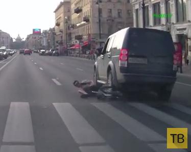 Сбили велосипедиста... ДТП на Невском проспекте, г. Санкт-Петербург