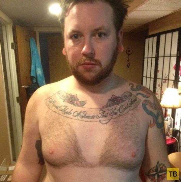 Мужики с волосатыми лифчиками на груди (11 фото)
