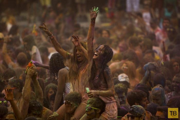 Индуистский фестиваль Холи в Мадриде (11 фото)