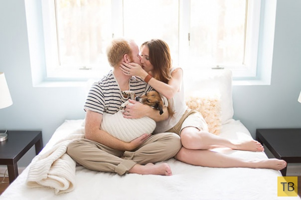Обычная фотосессия с новорожденным. Только вместо младенца — терьер (17 фото)