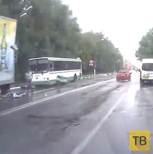 Сбили пешехода на переходе... ДТП в г. Лобня, Московская область