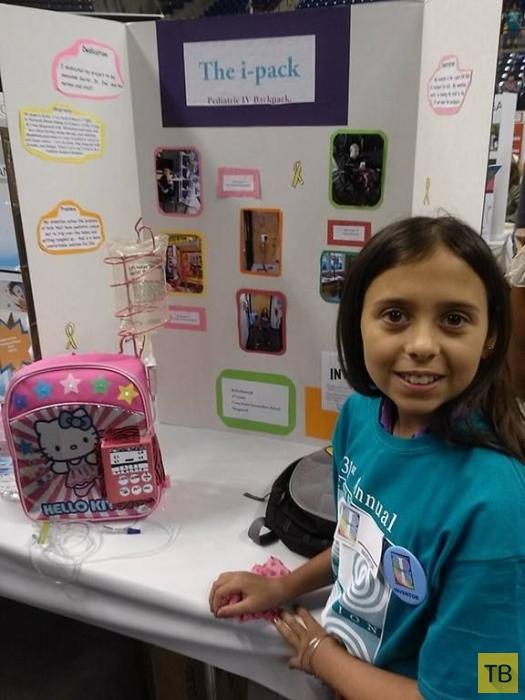 Девочка победила рак и изобрела специальный рюкзак, чтобы помочь другим больным (12 фото)