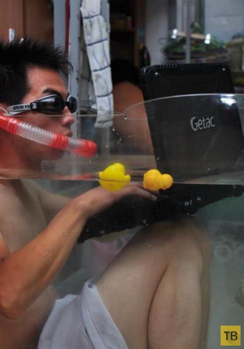 Как китайские студенты спасаются в общагах от жары (11 фото)