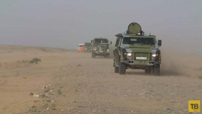 Суровые испытания для новой российской военной техники (7 фото)