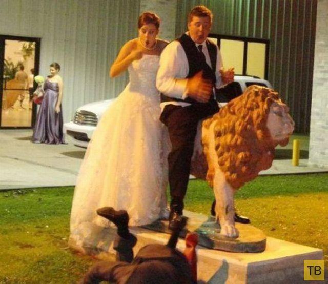 Неудачные свадебные фотографии (27 фото)