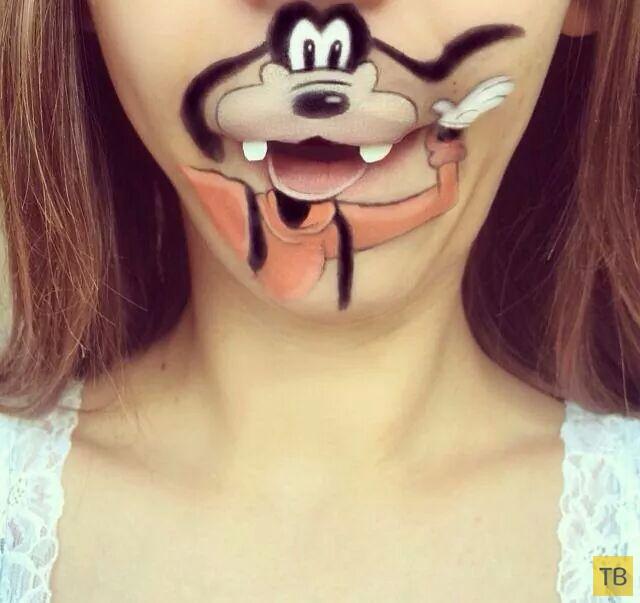 Диснеевский макияж губ (8 фото)