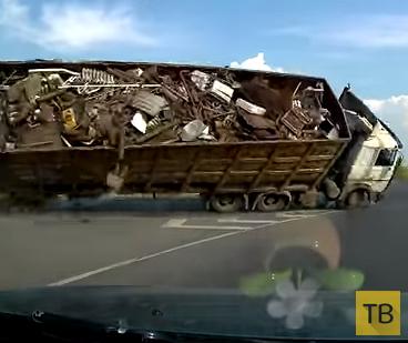 Фура легла на повороте... ДТП на кольцевой развязке Самара-Уфа-Красный Яр-Отрадный