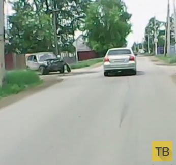 Очень торопился, но не проскочил... ДТП на пересечении улиц Фабричная-Мала-Ямская, г. Иркутск