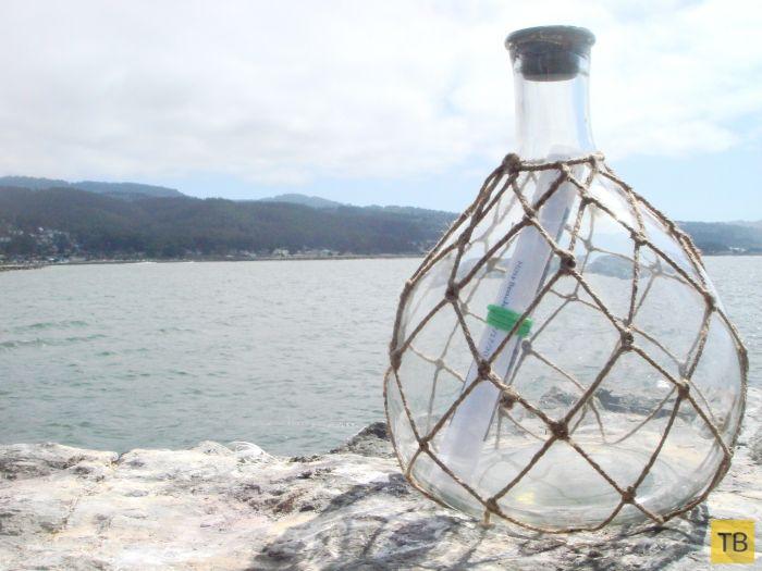 Необычное послание в бутылке (14 фото)