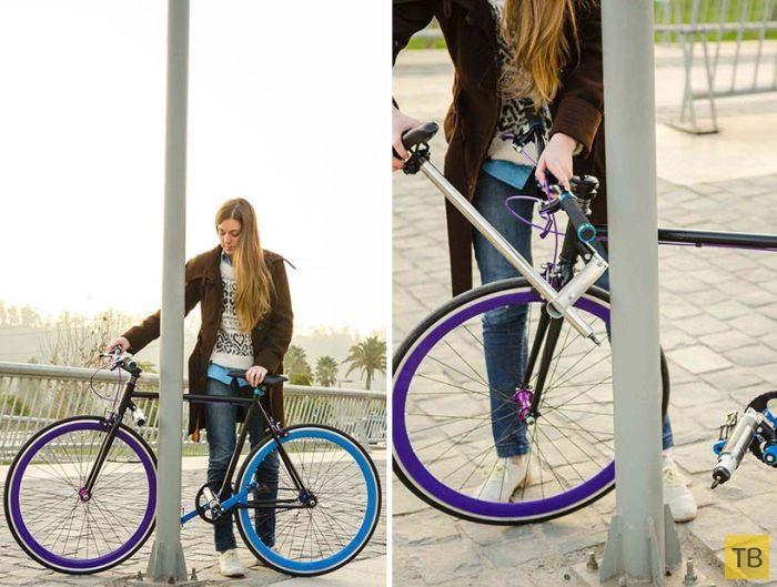 Велосипед, который непросто угнать (5 фото)