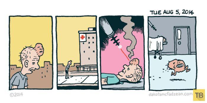 Веселые комиксы и карикатуры, часть 182 (18 фото)