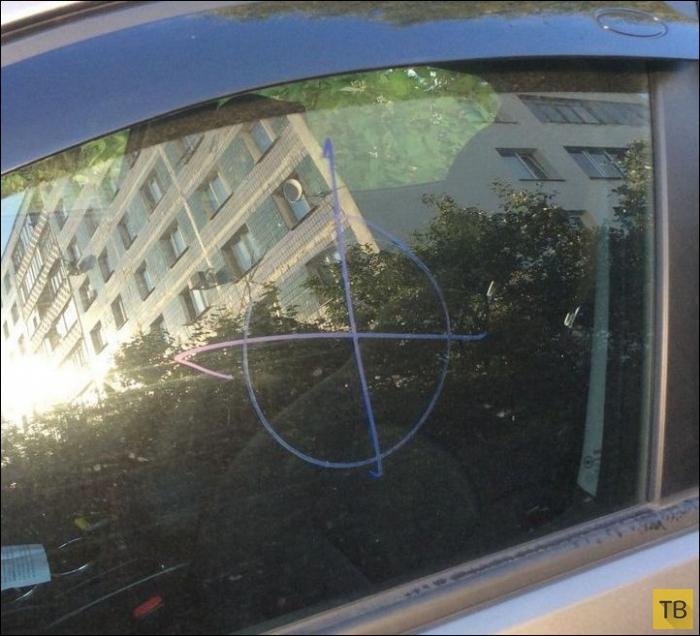 Неприятный сюрприз для автовладельца (2 фото)