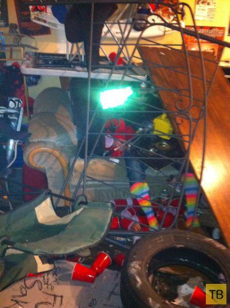 Бухнул с друзьями в гараже (7 фото)