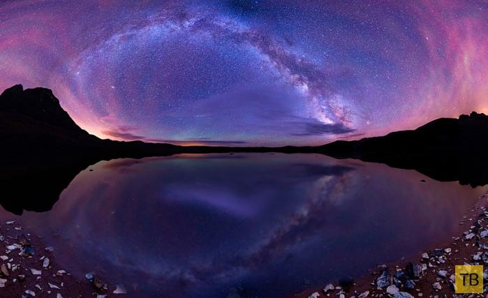 Панорамные снимки Млечного Пути в пустыне США (12 фото)