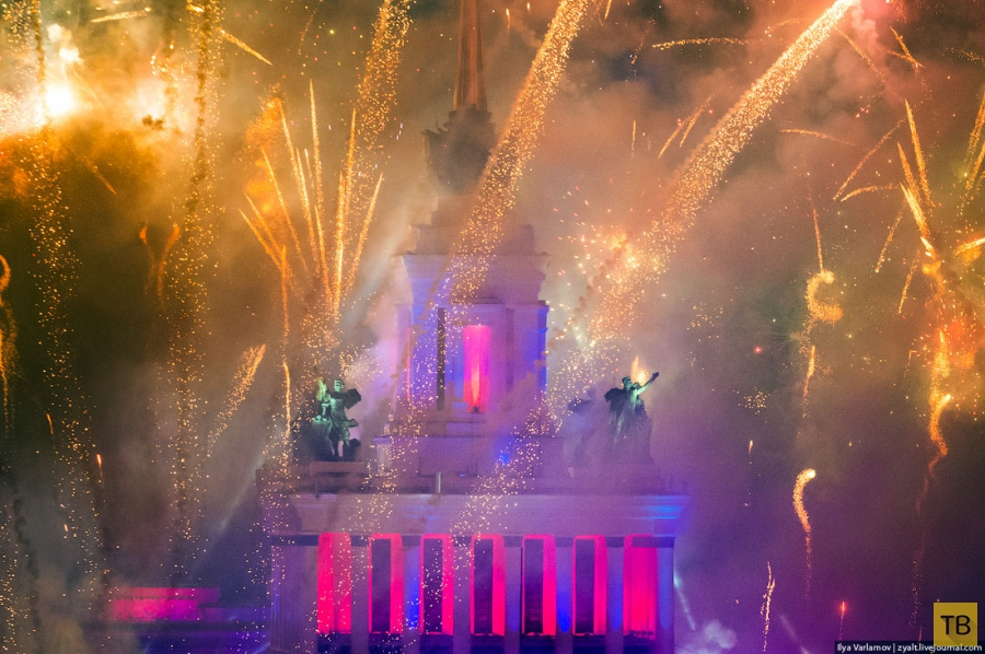 Фейерверк в честь 75-летия  ВДНХ (14 фото)