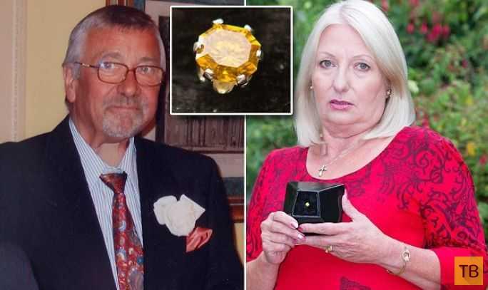 Вдова сделала из покойного мужа бриллиант (4 фото)
