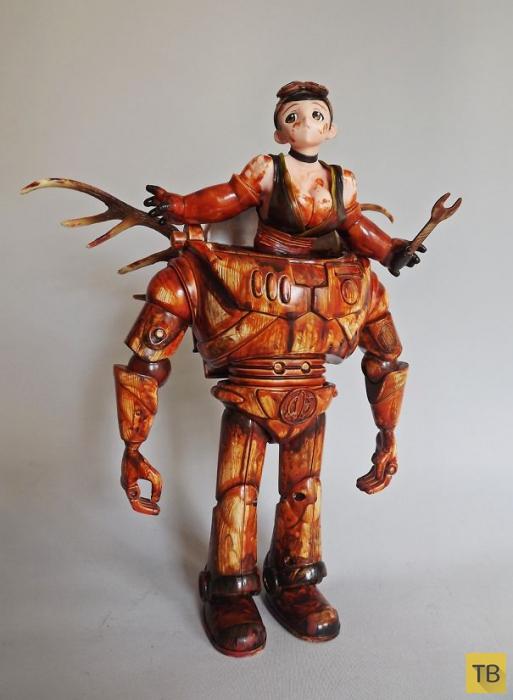 Креативные скульптуры из мусора от английского скульптора  - Шона Мэддена (11 фото)
